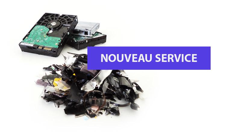 destruction disque dur médias numérique, céderoms