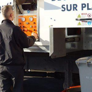 Déchiquetage de vos documents confidentiels sur place dans nos camion-usine