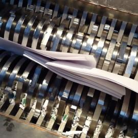 Destruction de document sur place
