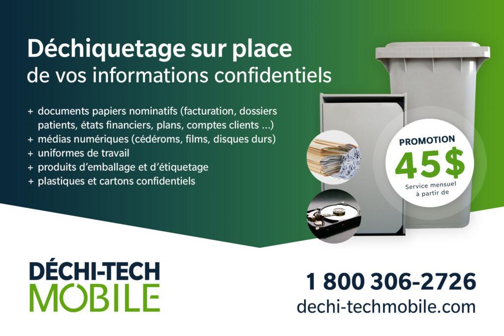 Promotion déchi-tech Mobile - 1 bac ou 1 console à 45.00$